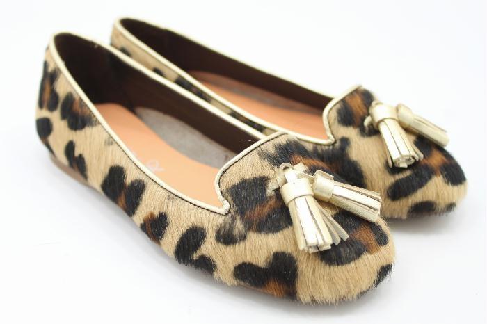 Eli kinderschoenen pantofola luipaard print
