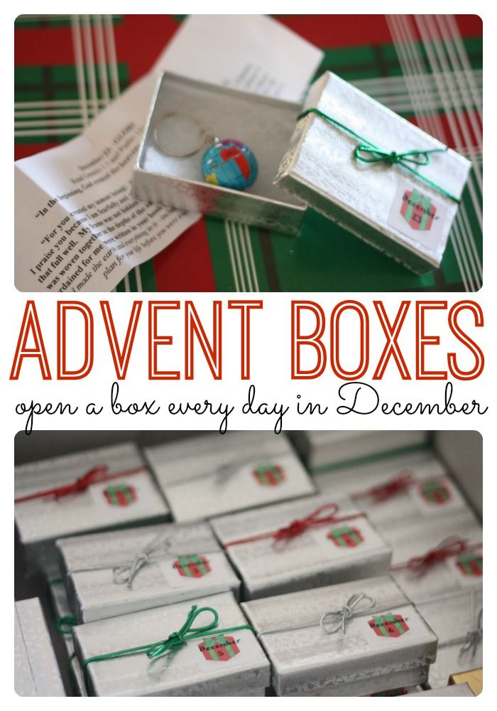 A tiny box with a BIG lesson for every day in December leading up to Christmas!