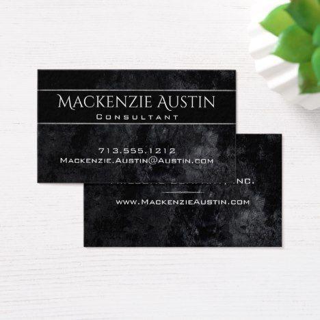 #branding #businesscards Onyx Business | Black White Matte Texture Classic Business Card #girlboss #bossbabe #bestbusinesscards