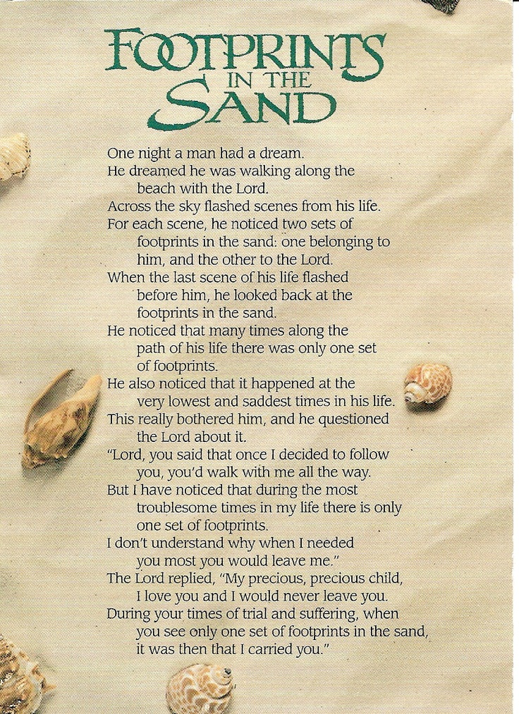 graphic about Footprints in the Sand Poem Printable Version called Footprints inside the sand upon the beach front poem 2907668 -