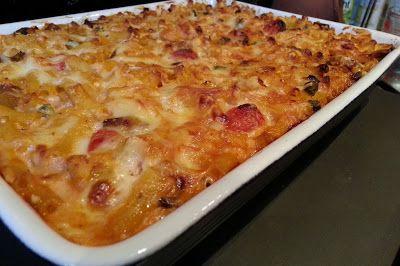 Macaroni Chicken and Cheese Bake