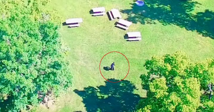 "New Drone Footage of Bigfoot? Wink Wink - I was trying to catch up on some of the latest Bigfoot news and sightings when I ran across another video that claims to show Bigfoot. The footage was captured by a drone and it shows a black colored bigfoot exit a small patch of trees and run across some grass into another patch of trees.   The video was posted by Apex TV and here is what the description said about the clip:   ""This video was sent to us by a man in the Midwestern United States. ..."