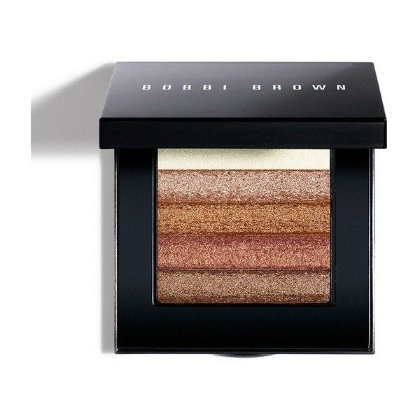 Bobbi Brown Shimmer Brick Compact Bronze ($48) ❤ liked on Polyvore featuring beauty products, makeup, cheek makeup, beauty, blush & bronzers, neutral, bobbi brown cosmetics, blender brush and blending brush