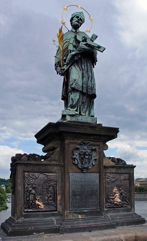 John of Nepomuk on Charle's Bridge in Prague