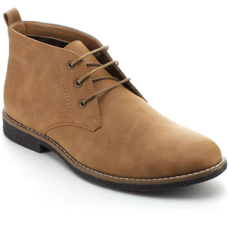 Experience superior comfort and iconic style in these casual boots. Featuring faux suede upper, 3-eye lace and high top closure, stitching detail, flat heel and durable rubber outsole. Finished with c