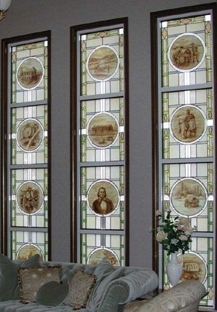 The Trumpet Stone: Mormon Temple Stained Glass - Scenes with People