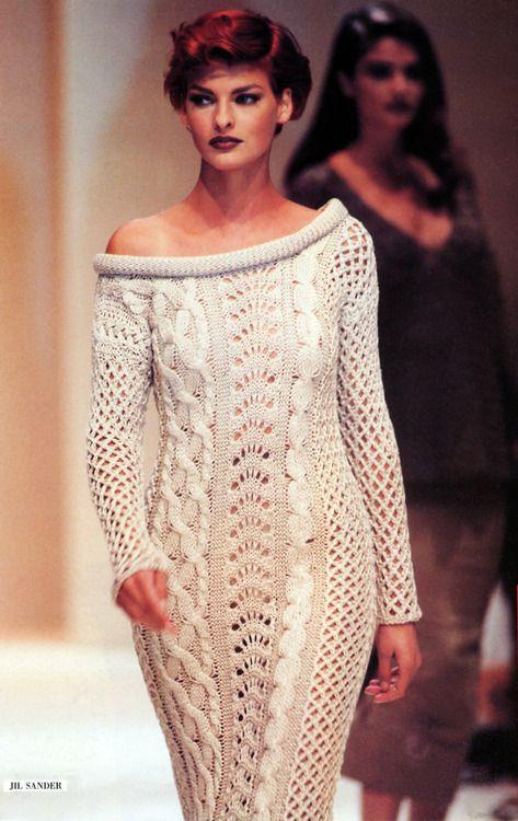 Jil Sander 1992,Model: Linda Evangelista