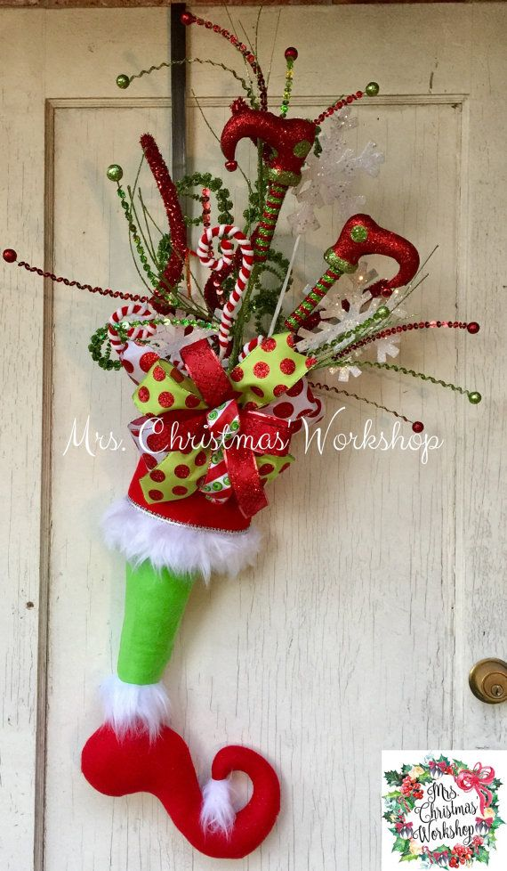 The Grinch Door Hanger Grinch Stocking By