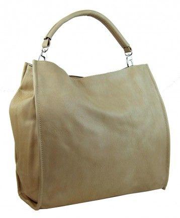 Velká taška na rameno New Berry 9010 písková hnědá - Kliknutím zobrazíte detail obrázku.