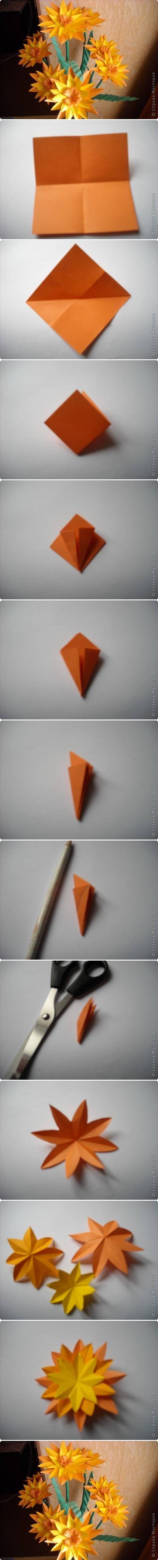 Mooie origami bloemen