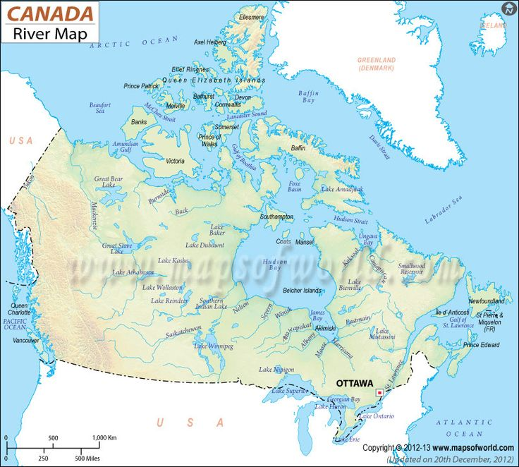 river map with canada - photo #1