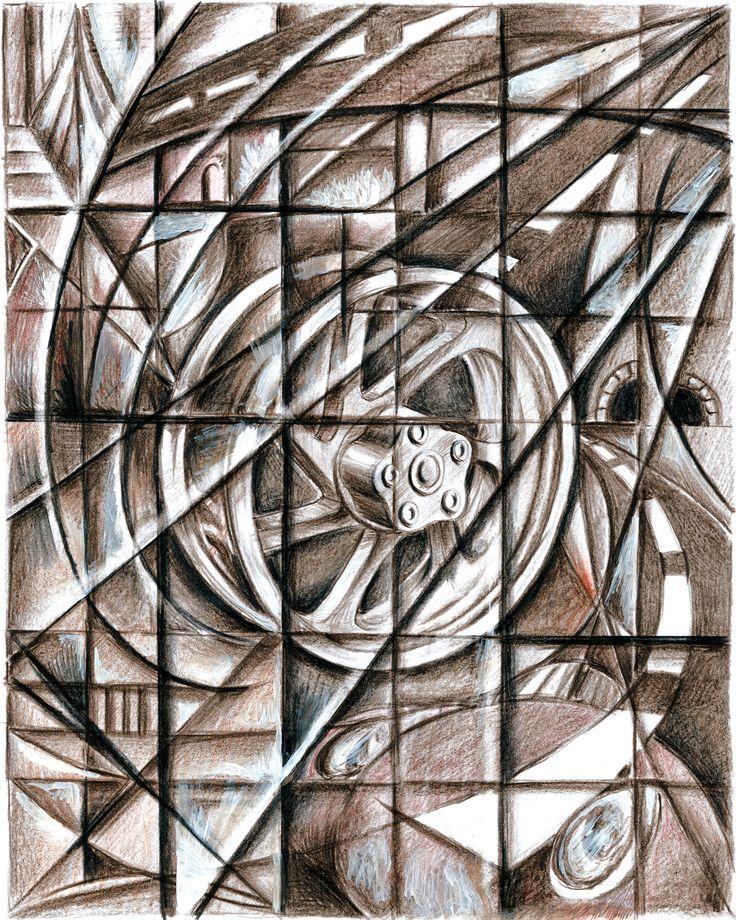 """#TheArtOfBraking, #illustration inspired by #GiacomoBalla #Futurismo #AnnualReport Una delle illustrazioni realizzate per il bilancio Brembo """"Designing the Future"""" ispirate all'arte del Novecento."""