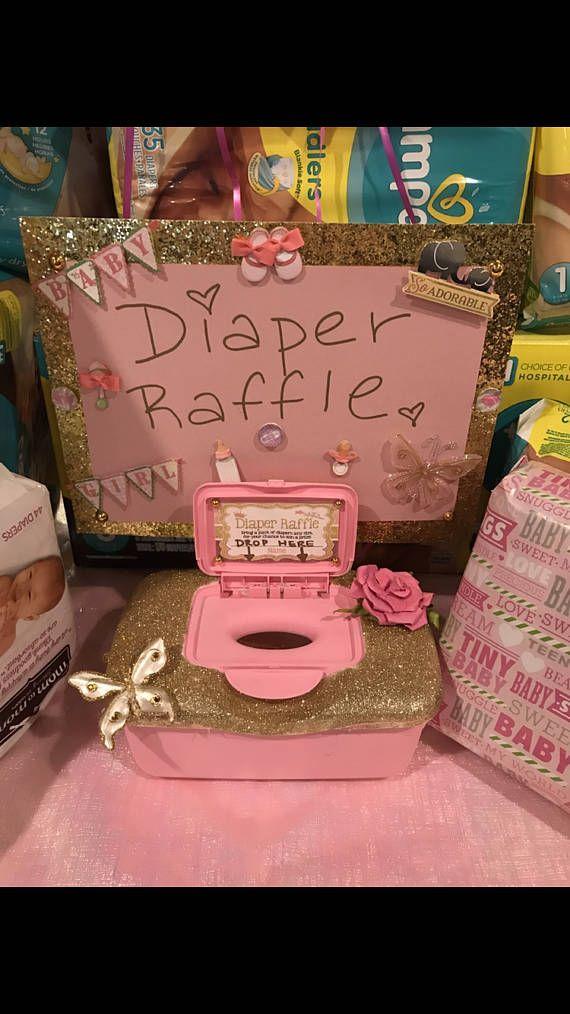 Diaper Raffle Ticket Holder For Baby Shower