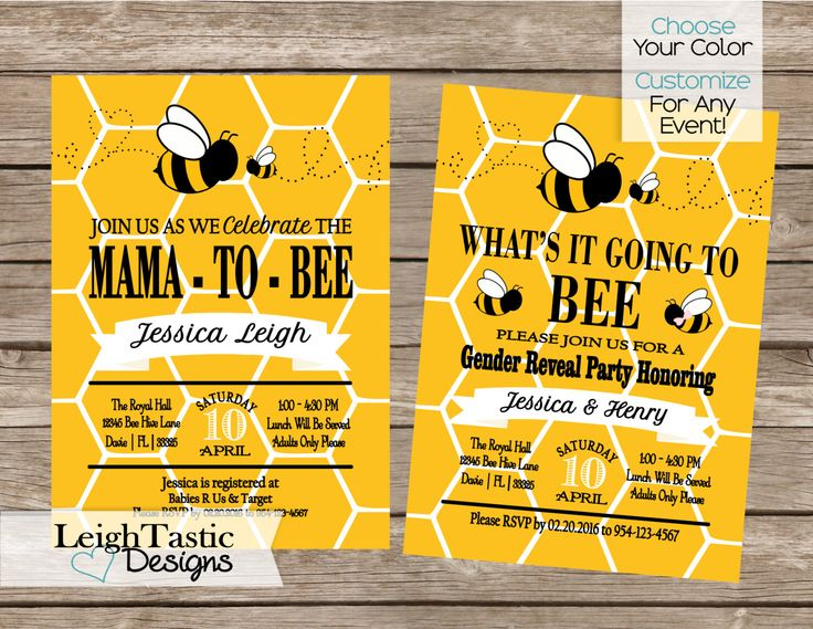 PRINTABLE Bumble Bee Comb Baby Shower Invitation, Bee Gender Reveal Invitation, Bumble Bee, Bee Invitation, What Will It Bee invite by LeighTasticDesigns on Etsy https://www.etsy.com/listing/265842616/printable-bumble-bee-comb-baby-shower