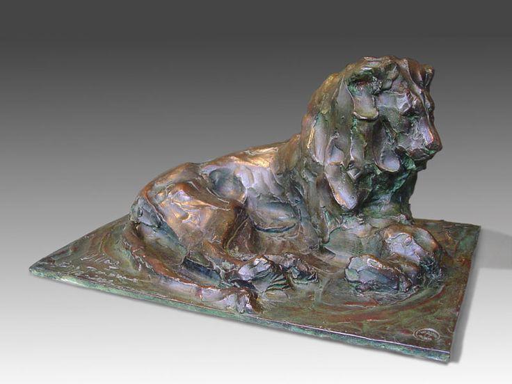 Lion 29x21cm бронза 1/8 © 2001
