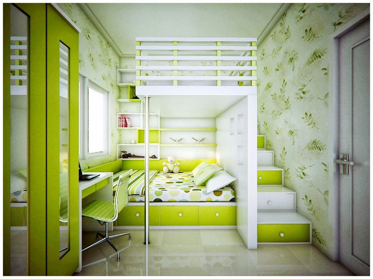 Bright Teens Bedroom Color Lime Green and Grey Bedroom Kids Desk