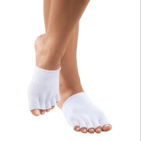 EasyComforts  White Healthy Steps Open Toe Gel Socks