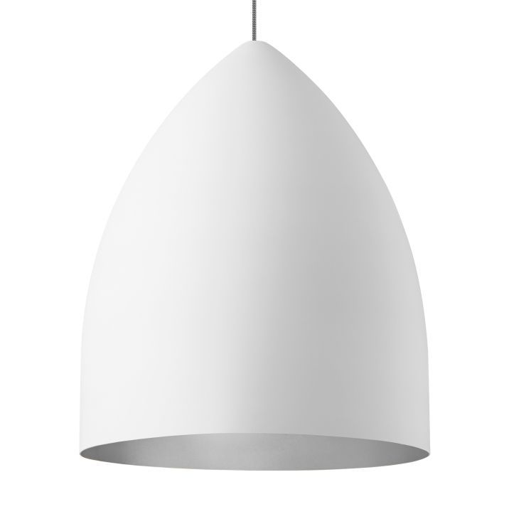 LBL Signal Grande Rubberized Exterior with Platinum Interior Incandescent Pendant