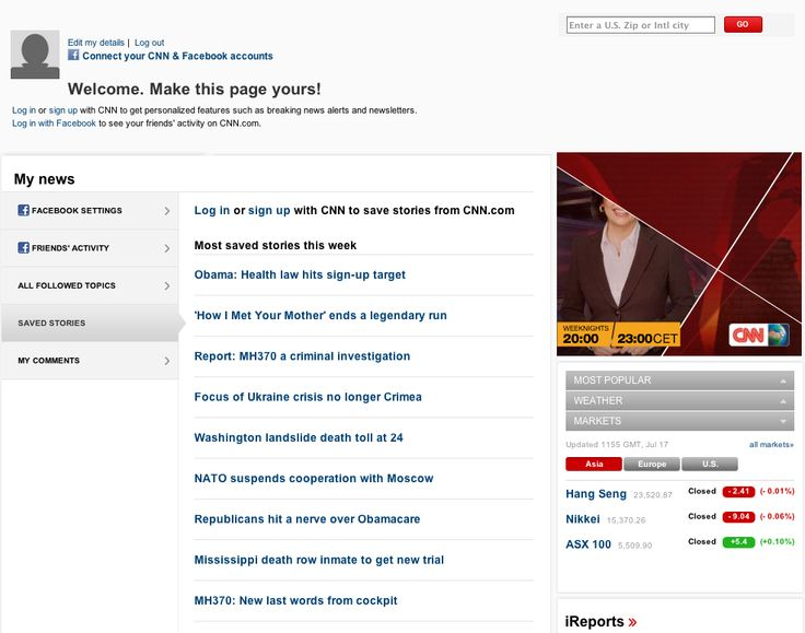 CNN iReport welcome page