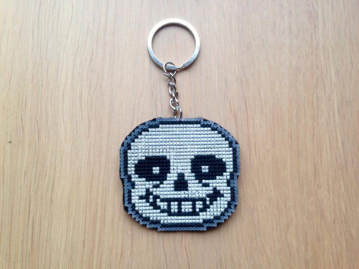 Sans Undertale Cross Stitched Keychain