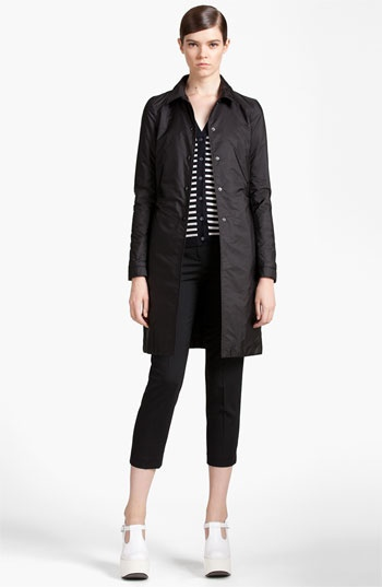Jil Sander Navy Snap Front Coat available at #Nordstrom