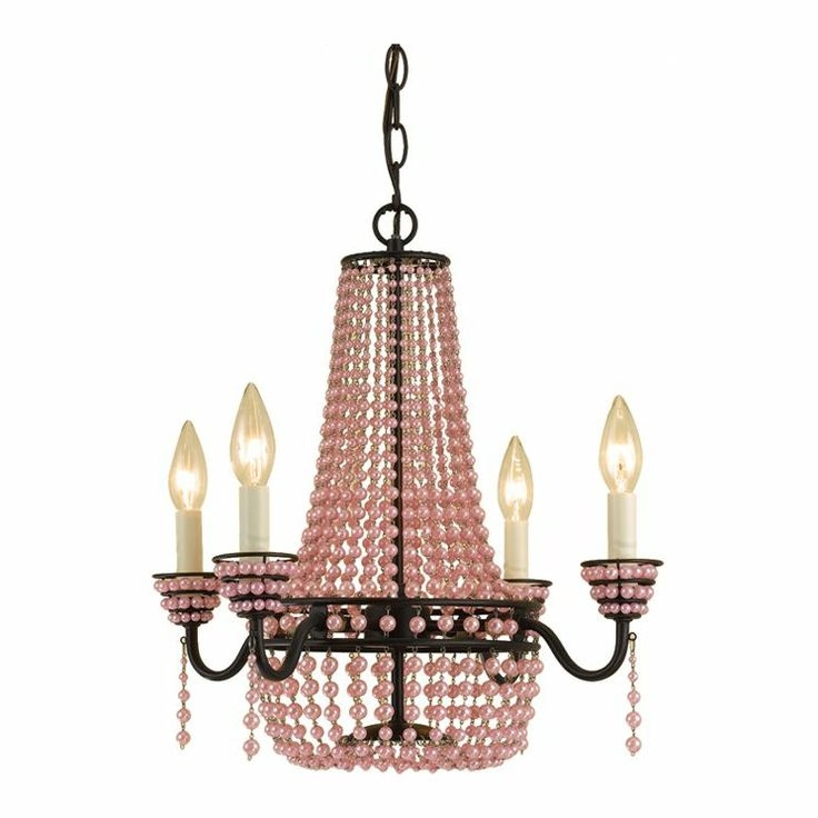 Parlor 4 Light Mini Chandelier in Bronze & Pink OMG LOVE IT.....