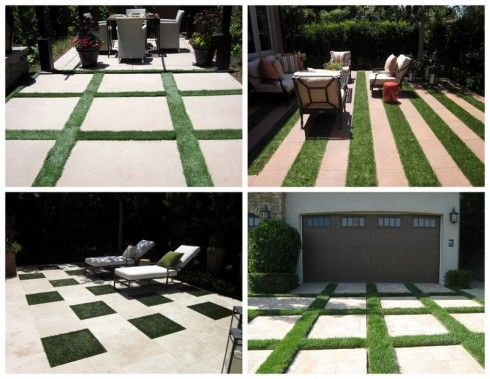 """""""There are so many ways to bring interest and drama to a yard without having to spend a fortune. I saw these great geometric grass designs and had to share them."""" - by our blogger Cathy"""