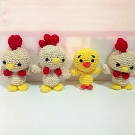 Patrón Un gallo más gallito ❥Teresa Restegui http://www.pinterest.com/teretegui/❥