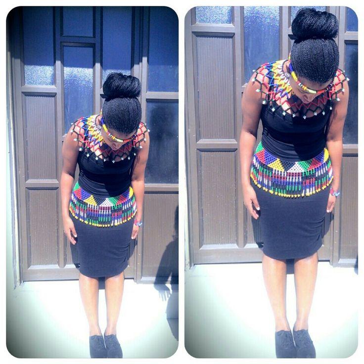 My traditional attire #zuluswag #traditional #makoti