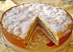 The German New Years Cake is a traditional cake with 3 layers of different fillings: poppy seeds, nuts and apple. Delicious and easy to make. Happy Baking!