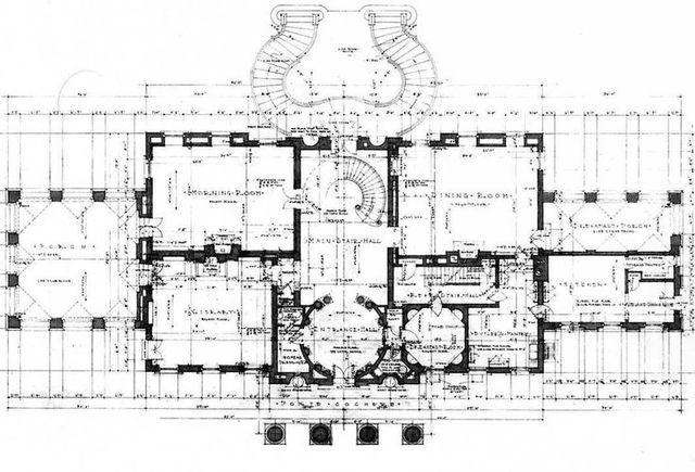 swan house first floor plan art pinterest floor