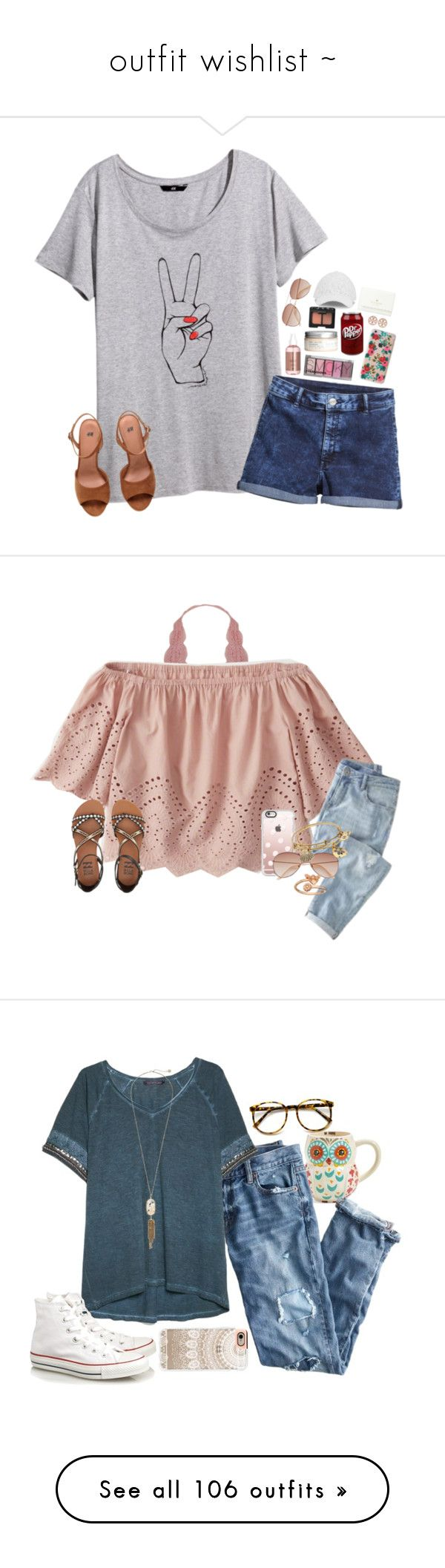 """""""outfit wishlist ~"""" by headcarsmary ❤ liked on Polyvore featuring H&M, Rifle Paper Co, Draper James, NARS Cosmetics, Tory Burch, Kate Spade, Humble Chic, Abercrombie & Fitch, Billabong and Casetify"""