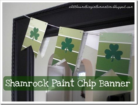 Now why didn't I think of that!!Painting Chips, Paint Chips, Painting Cards, Adorable Painting, Banners Tutorials, Chips Banners, Banners Cut, Banners Instructions, Shamrock Painting