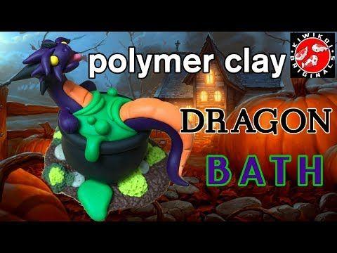 Polymer Clay Dragon | Halloween Craft | Halloween Diorama | Cauldron Bath - YouTube