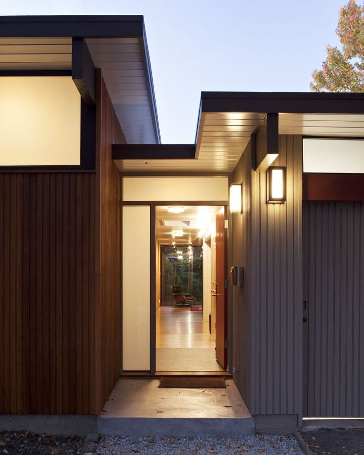 Architectural, The Main Door With Light Wall And With Great Wall Design:  Enchanting Eichler