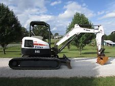 2010 BOBCAT E45-M ZERO TAIL SWING MINI-MIDI EXCAVATOR / VERY GOOD COND /  N R !! apply to finance www.bncfin.com/apply excavators for sale - excavator financing