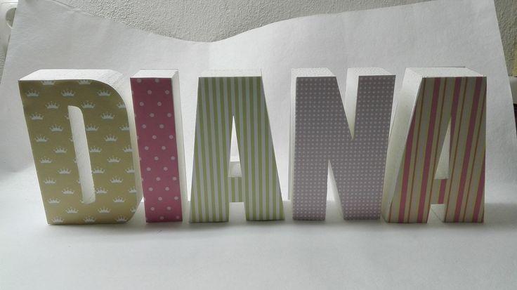 Letras decorativas personalizadas Customed letters