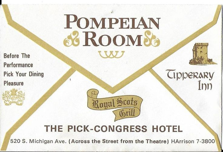Vintage Mid Century Chicago Advertisement - Theatre Ticket Stubs - Dress Circle - The Auditorium Theatre - The Pick-Congress Hotel by 20thCenturyCool on Etsy