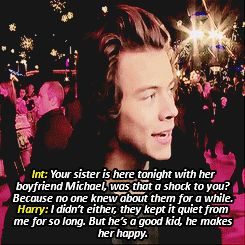 AU MEME:In which you're Harry Styles sister as well as Michael Clifford's girlfriend. Fans have come to assume that Harry and Michael don't get along any more, but they're very wrong.