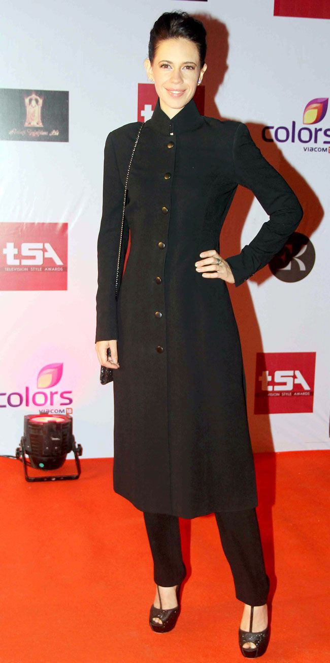 Kalki Koechlin looked stunning in a black outfit at the Television Style Awards.