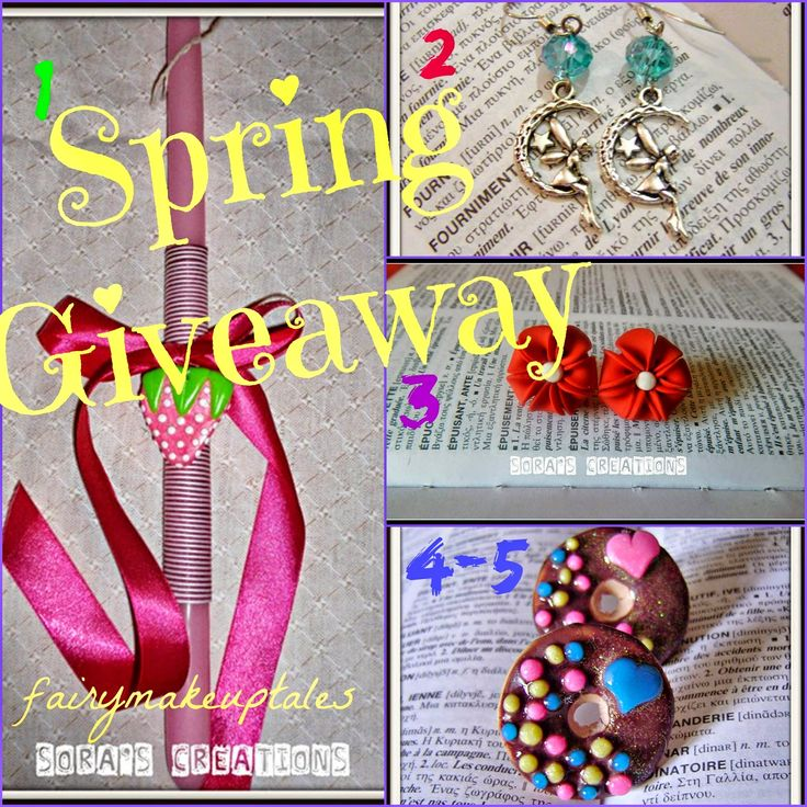 Fairy make-up tales . . . . : Spring Giveaway with Handmade Creations!