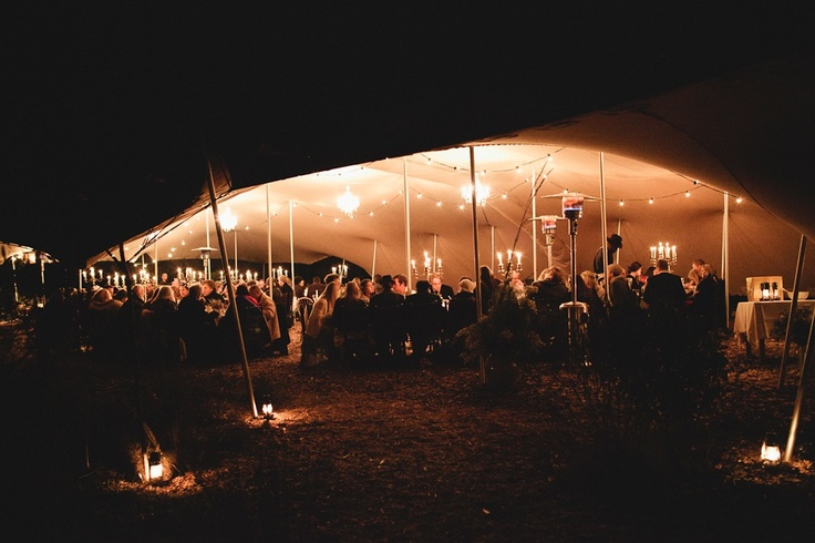 Beige stretch tent - wedding