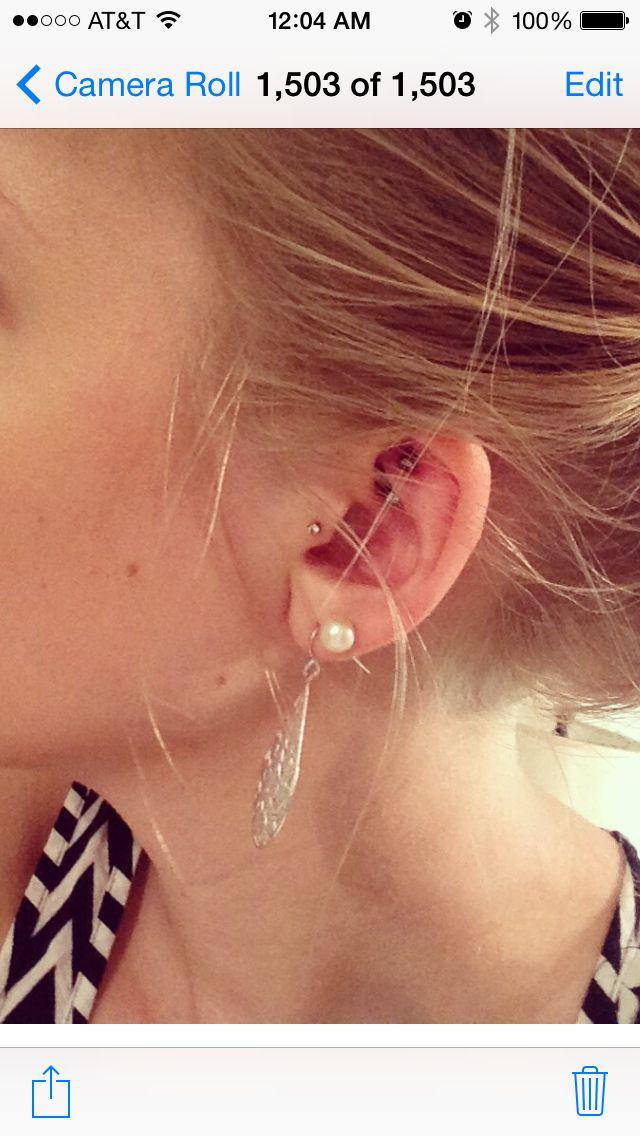 Rook piercing tragus piercing ear blonde double lobe piercing piercing ideas safe piercings rook jewelry