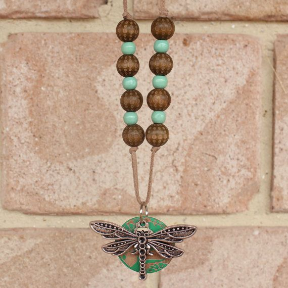 Dragonfly Pendant Necklace Womens Jewellery by EarthsInspiration