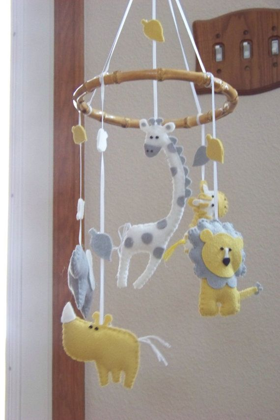 Baby Mobile Baby Crib Mobile Jungle Mobile by lollipopmoon