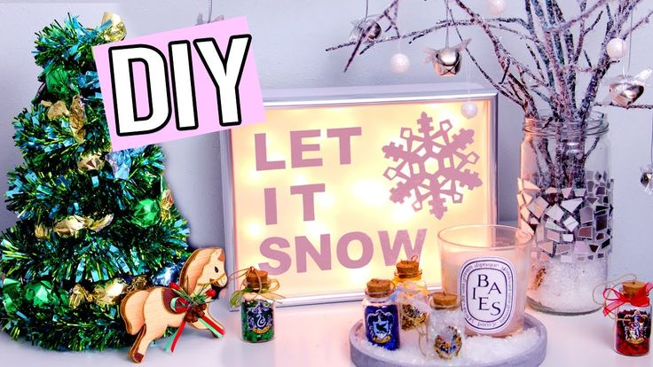 DIY Christmas Decorations! Snowy Modern Xmas Tree, Chocolate Christmas Tree, Light Up Xmas Sign