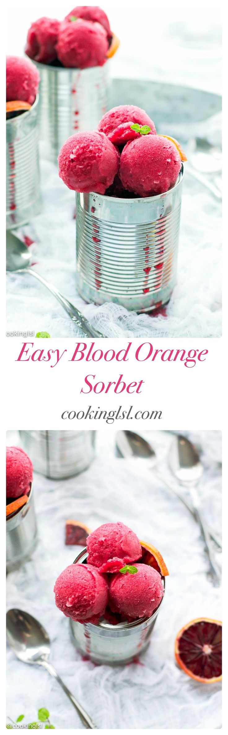 Easy Blood Orange Sorbet Recipe - Cooking LSL