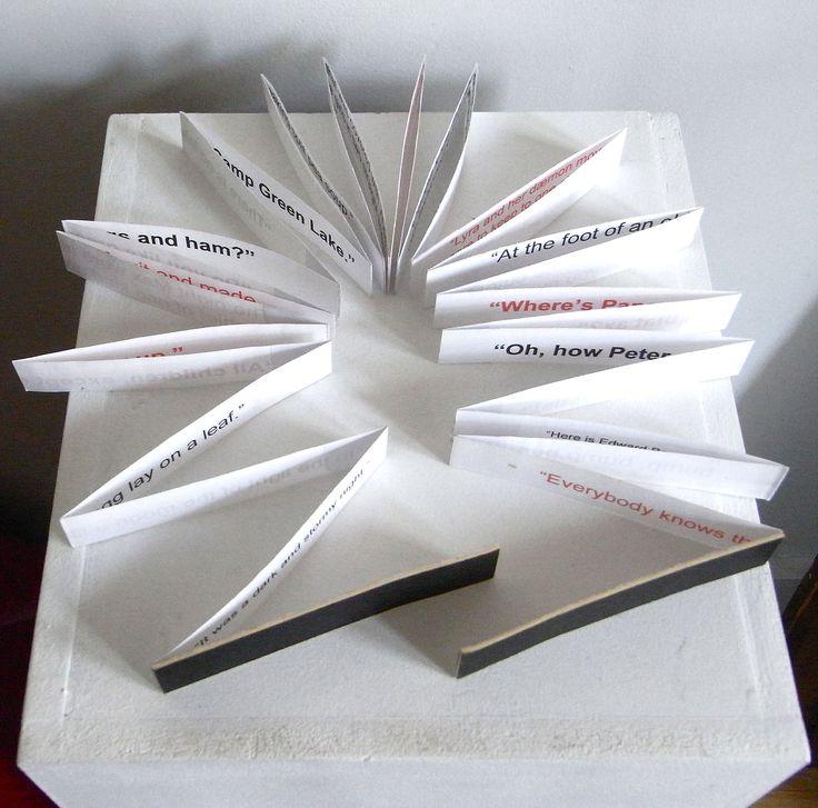 Paper sculpture...a simple folded book