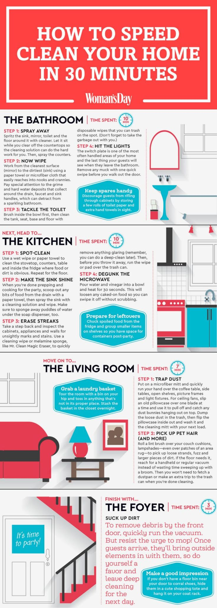 "Save these easy cleaning tips for later, and follow <a rel=""nofollow"" href=""https://www.pinterest.com/womansday/"">Woman's Day on Pinterest</a> for more great ideas. <span></span>"