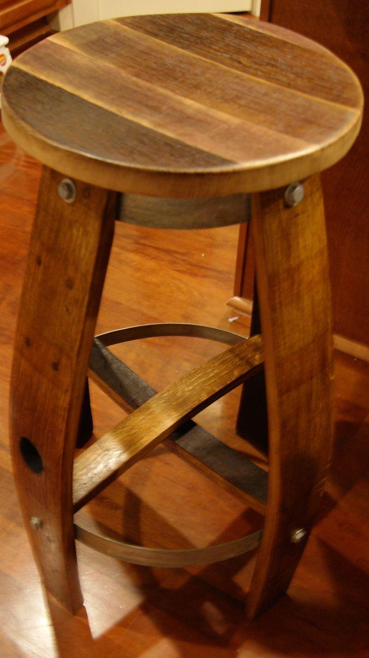 Reclaimed wine barrel Bar Stool $200 & Best 25+ Wine barrel bar stools ideas on Pinterest | Barrel table ... islam-shia.org